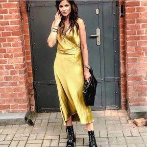 NWT Zara Satin Lingerie Style Dress